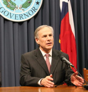 Texas Governor, Greg Abbott