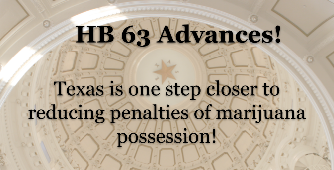 GREAT NEWS: HB 63 advances after favorable committee vote!