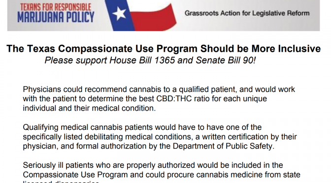 Policy Overview: Texas HB 1365 – Expanding the Compassionate