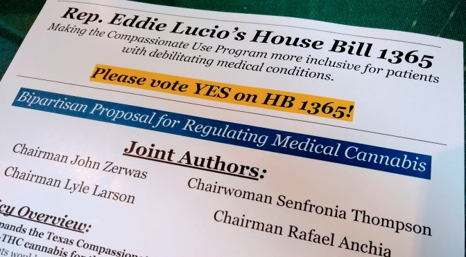 Texas: Medical Marijuana is up for a vote in the House today!
