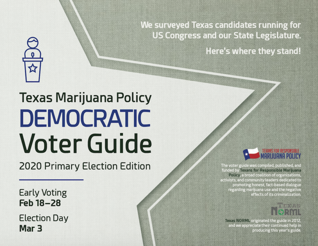 Texas Marijuana Policy Voter Guide | 2020 Democratic Primary Candidates