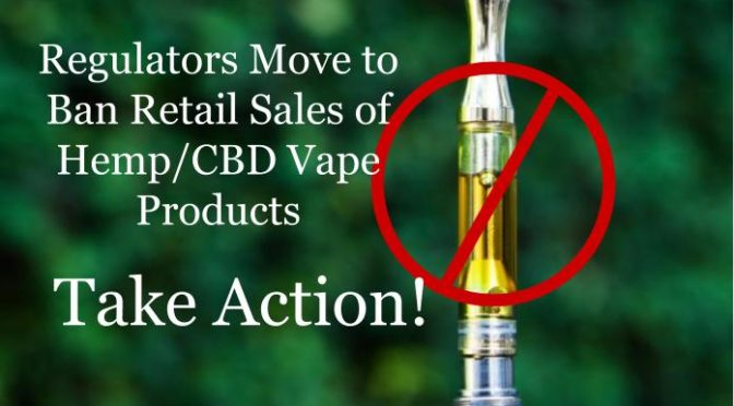 Texas Moves to Ban Retail Sales of Hemp (CBD) Vape Products | Here's how you can help!