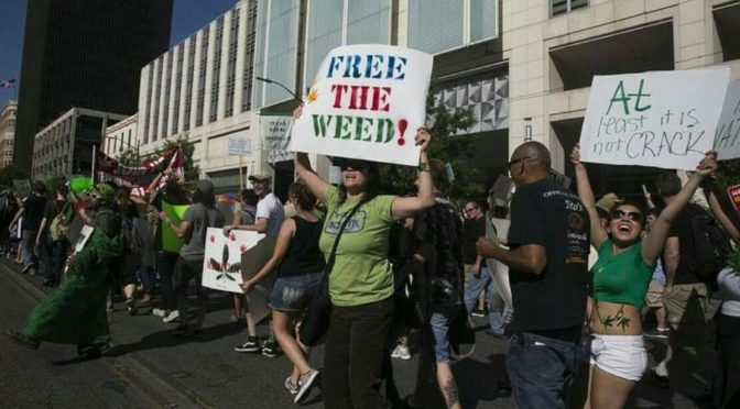 Crowds march to remove stigma of medical marijuana