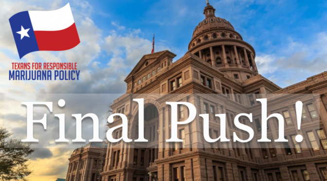 Texas: Medical cannabis must be approved in the Senate by Wednesday. Take action now!