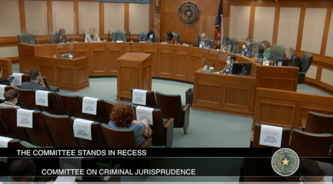 Texas House Committee Hearing: Marijuana Penalty Reduction | (HB 1086)